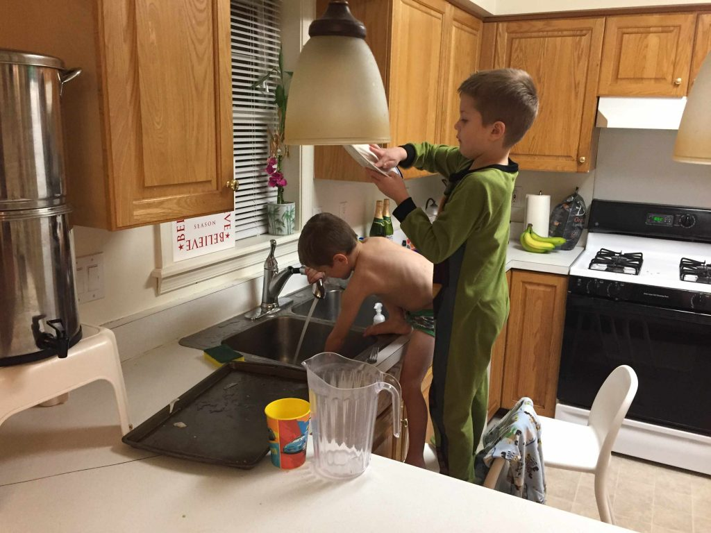 doing dishes