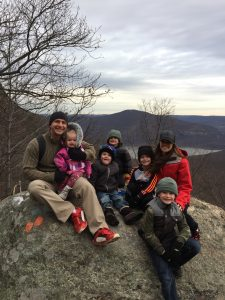 family hike on a gloomy day turns out beautiful